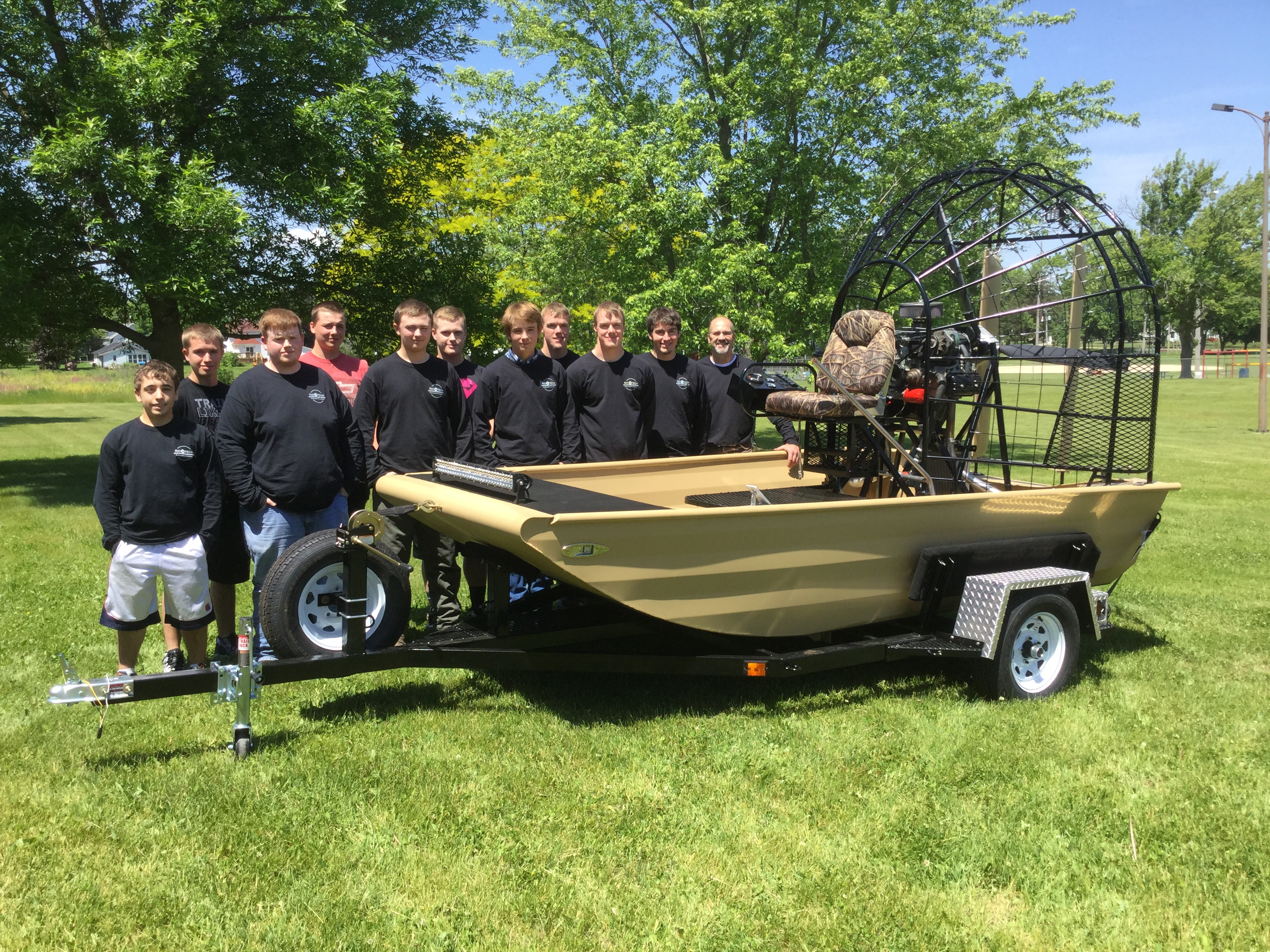 Rio High School Airboat Project - Warp Drive Propellers